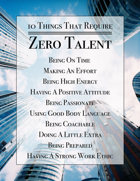graphic relating to 10 Things That Require Zero Talent Printable known as 10 Variables That Want Zero Ability, Inspirational Print