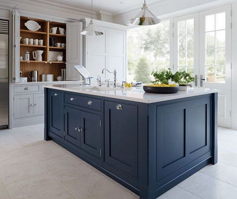 20+ Amazing Mix Color Blue and White Kitchen Cabinets ...