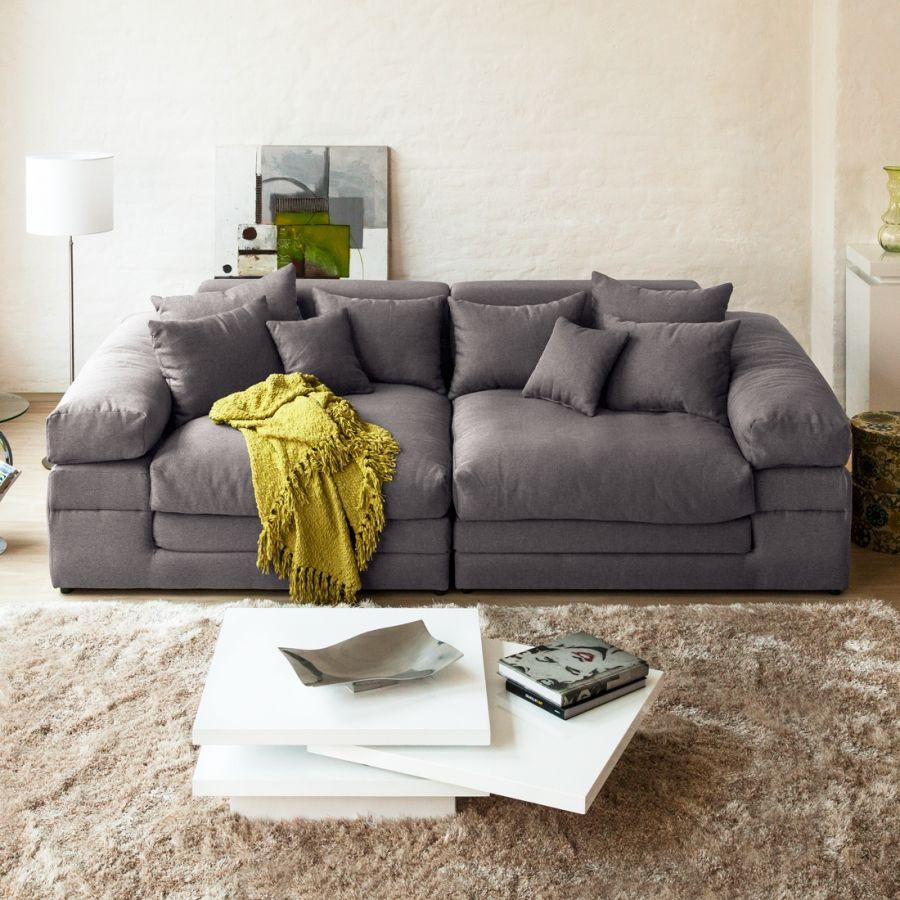 Bigsofa Nelson Webstoff Grau Home24 Haus Deko Wohn Mobel Tiefe Couch