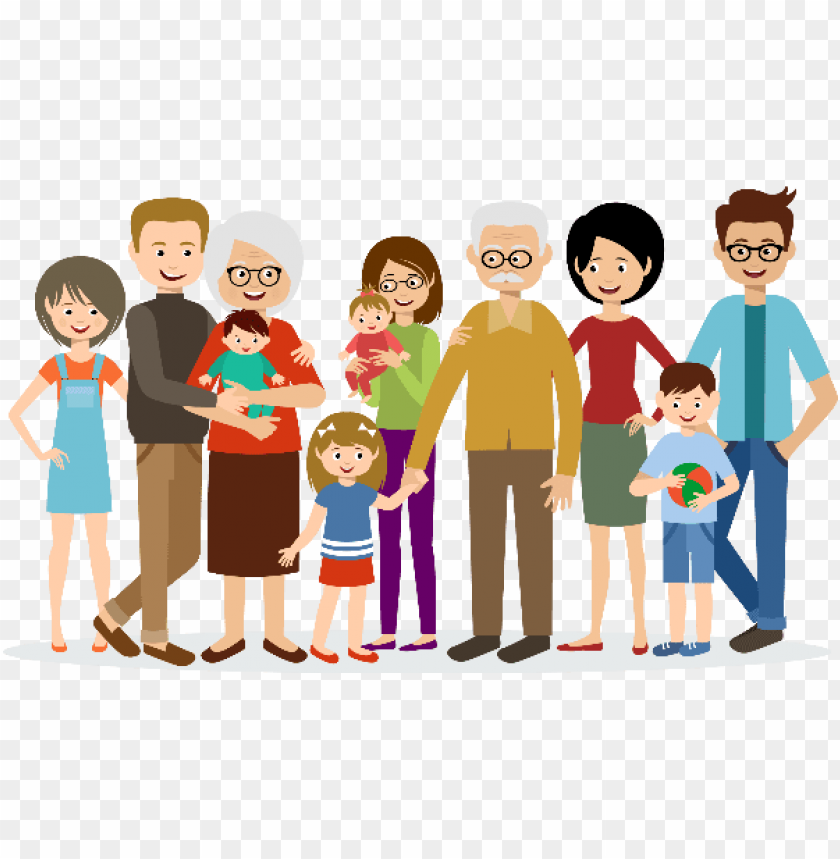 Big Family Animated Png Image With Transparent Background Png Free Png Images Birthday Verses For Cards Family Clipart Animated Clipart