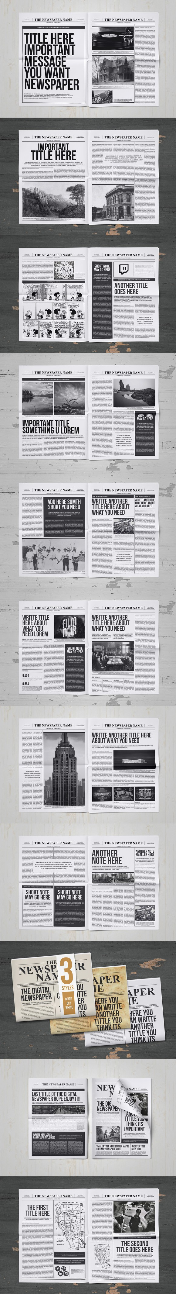 Classy Newspaper Indesign Template | Magazine Templates | Pinterest