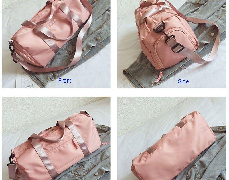 d938ef9f7420 Cheapest Swimming Yoga Fitness Gym Bags Dry Wet Bag Handbags For Women Shoes  Travel Training Waterproof Pink Pool Beach Duffel XA545WA