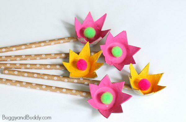 Egg Carton Flowers 20 Adorable Egg Carton Crafts For Kids Make One