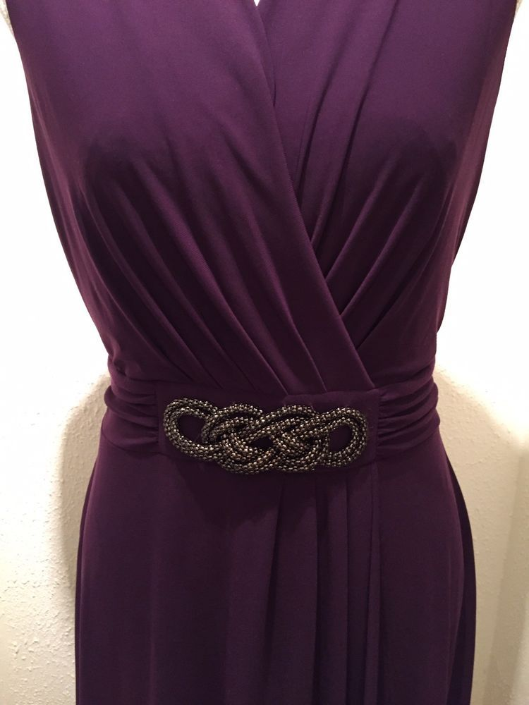 David Emanuel Womens Uk12 Purple Dress With Tag Fashion Clothing Shoes Accessories Womensclothing Dresses Ebay L Purple Dress Clothes For Women Dresses