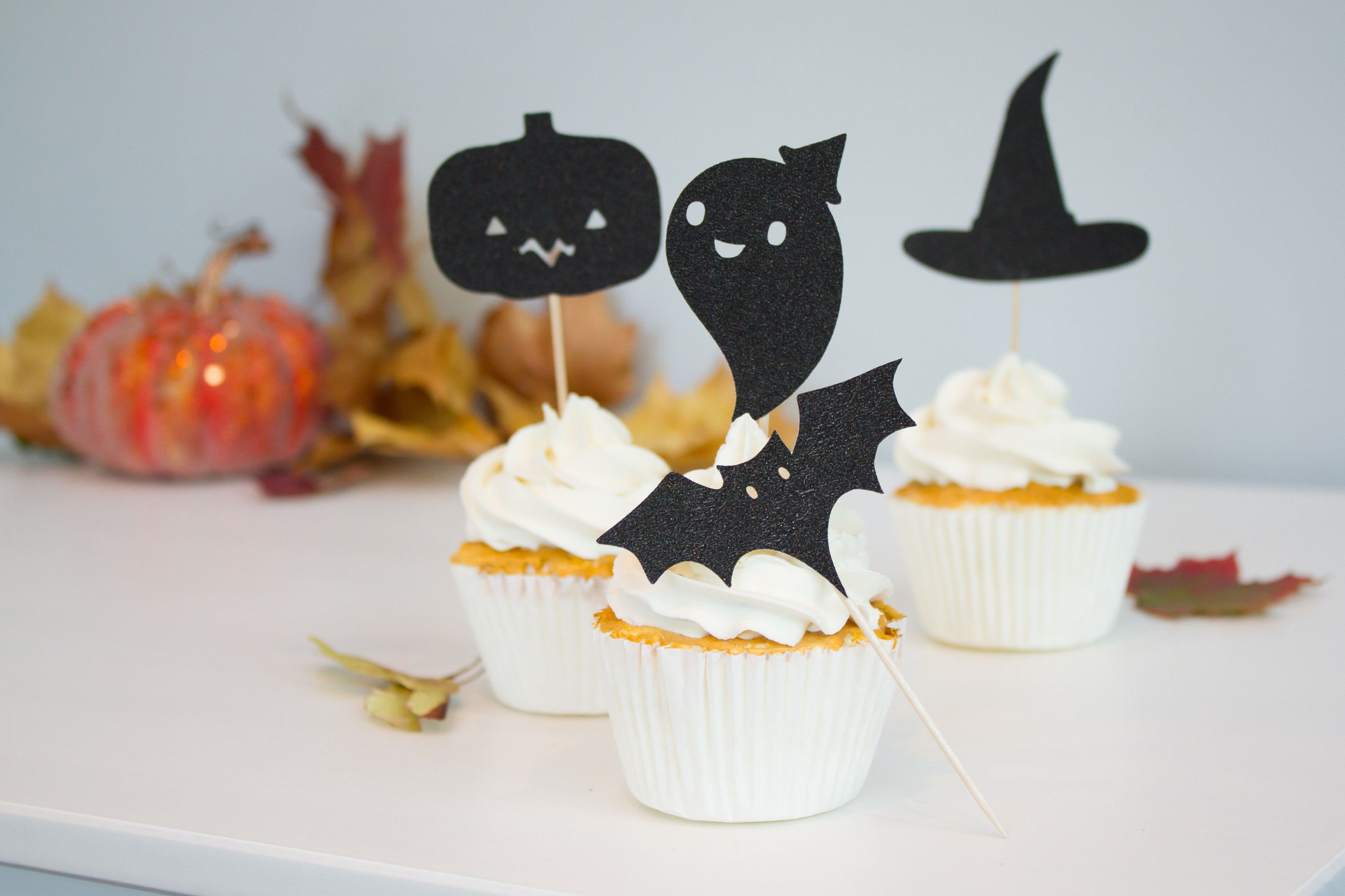 Halloween cupcake toppers halloween cake topper happy