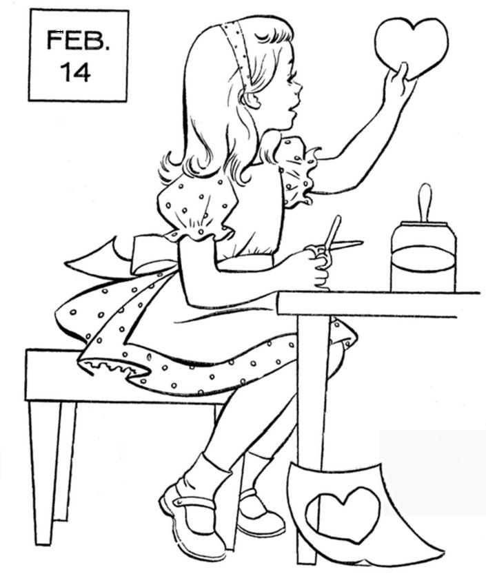 Valentines Day | Valentines Day Coloring | Pinterest