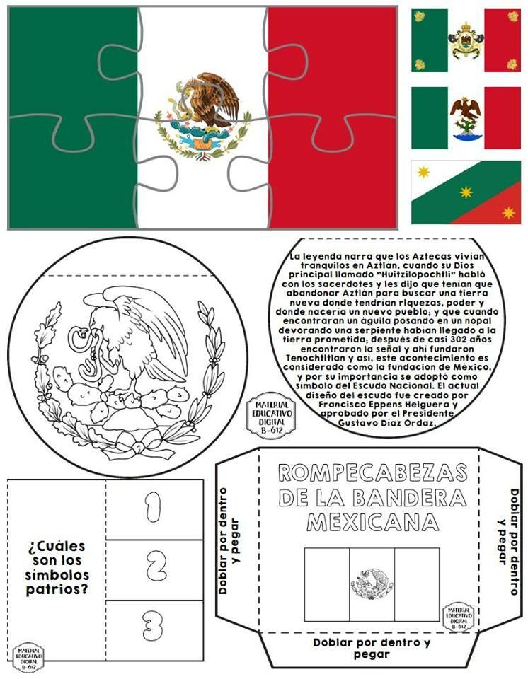 Espectacular Y Genial Lapbook Para El Dia De La Bandera De Mexico Educacion Prima Manualidades 15 De Septiembre Para Ninos Dia De La Bandera Simbolos Patrios