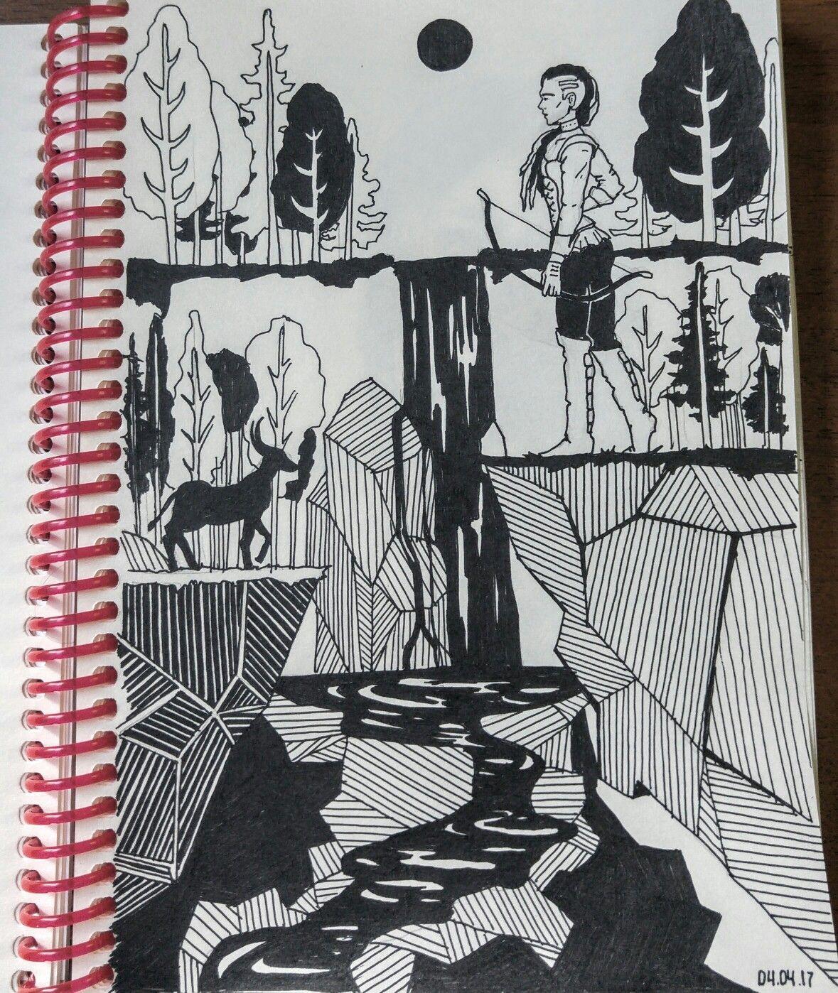 #art #graphic #illustration #природа #ручка