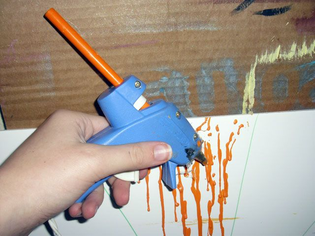 Crayons In A Hot Glue Gun Colorful Seal For Letters Or