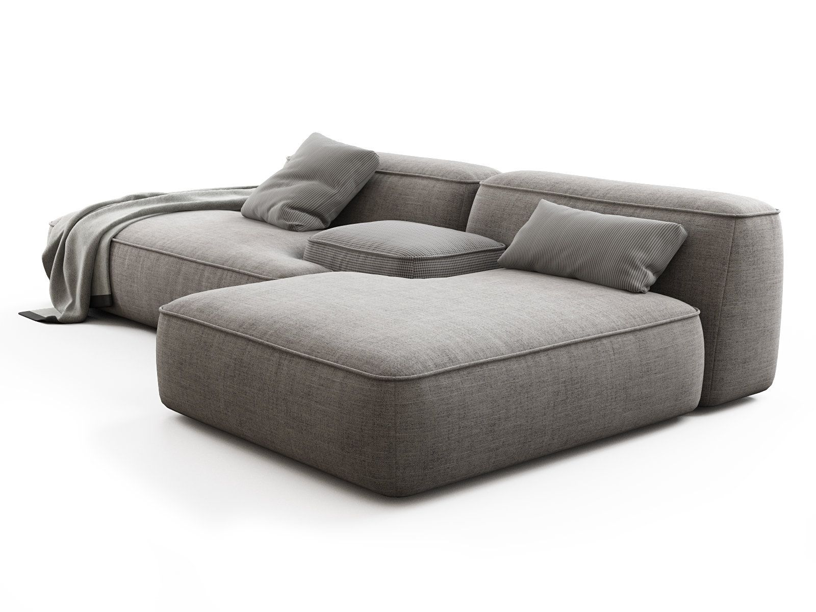 Cloud Sofa 01 3d Model By Design Connected Modular Sectional