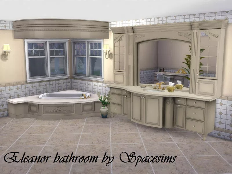 Eleanor Bathroom The Sims 4 Catalog Sims House Sims 4 Kitchen Sims 4