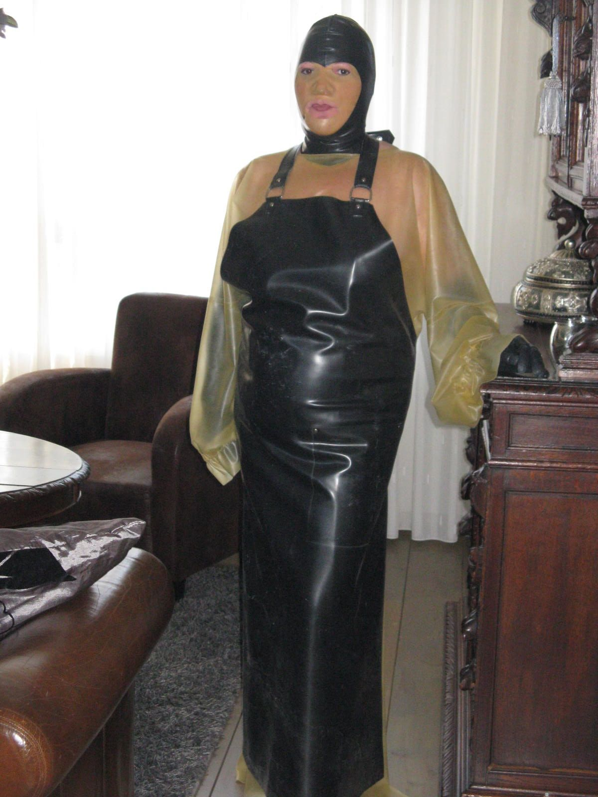 Rubber latex rubber aprons