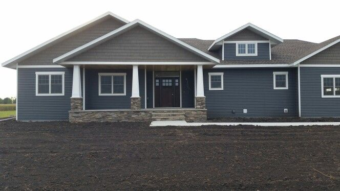 Ranch style midnight surf siding exterior pinterest ranch style ranch and house - High build exterior paint set ...