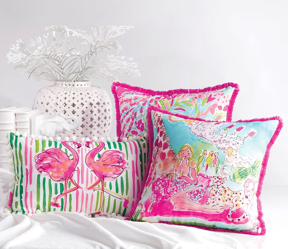 Lilly Pulitzer pillows Designed for indooroutdoor use quite