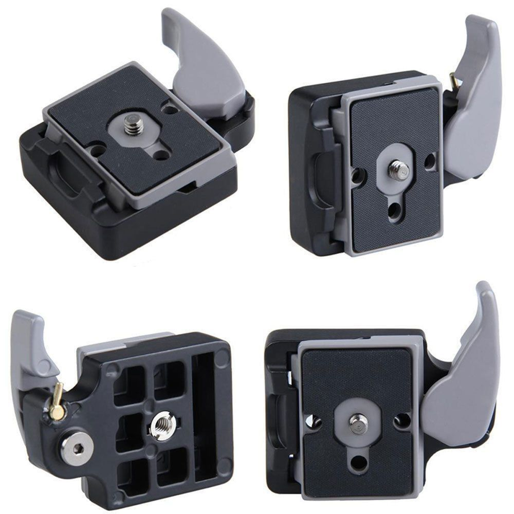 New Camera 323 Release Clamp Adapter + Quick Release Plate Compatible for Manfrotto 200PL-14 Compat Plate