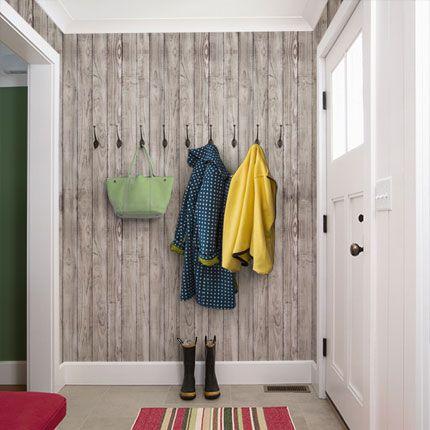 Grey Wood Peel Stick Fabric Wallpaper A Wonderful Weekend