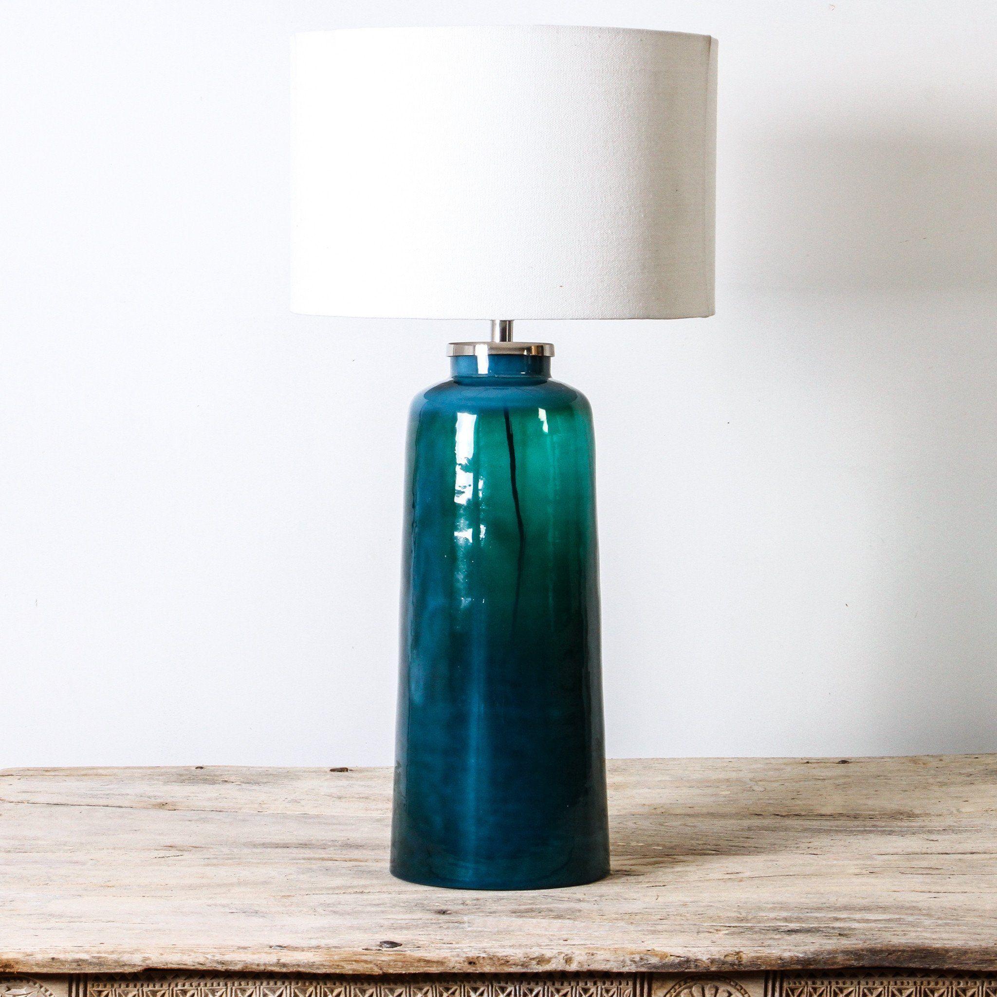 Blue glass table lamps  Blue Hole Table Lamp  Reno  design inspo  Pinterest  Blue hole