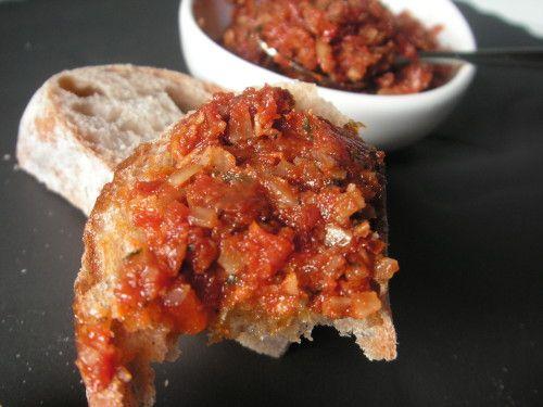 caviar tomates sechees