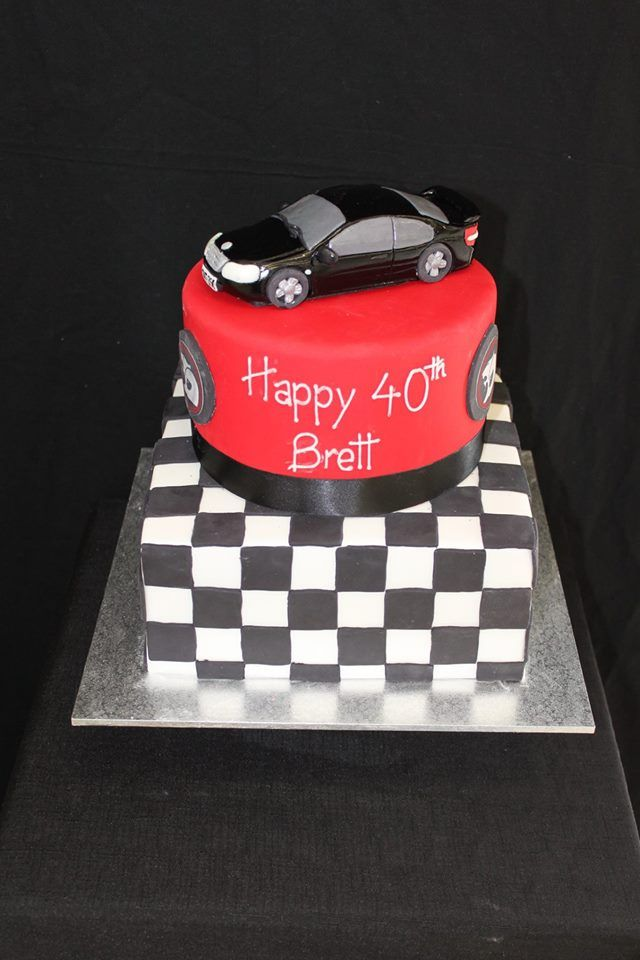 Holden Racing Cake With Hand Modelled Car Cake Ideas Pinterest