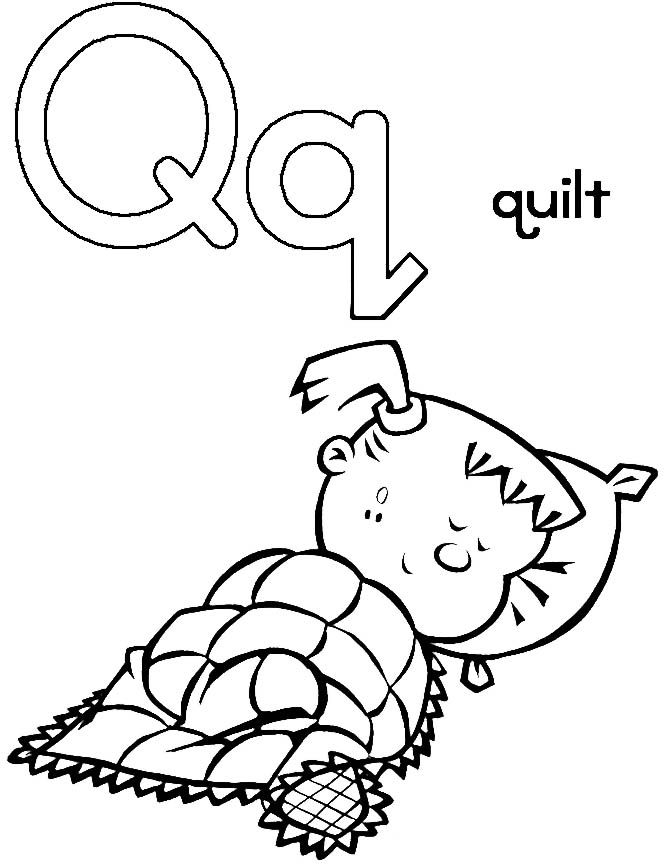 Q For Quilt Coloring Pages