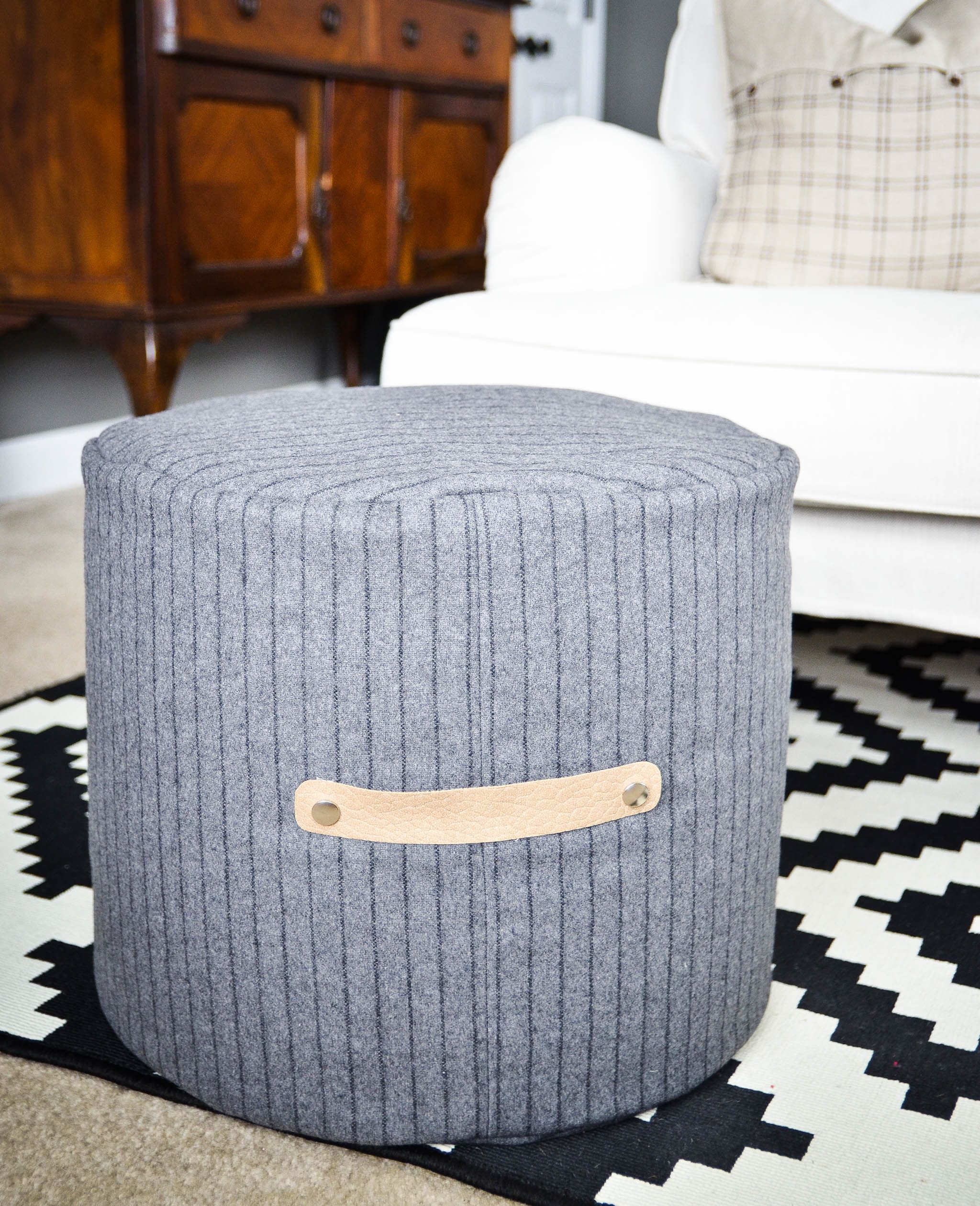 Diy Floor Pouf Tutorial With Images