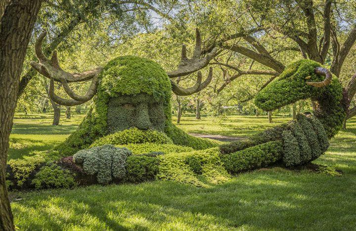 Wonderful Des Sculptures Végétales Monumentales Installées Dans Les Jardins De  Montreal