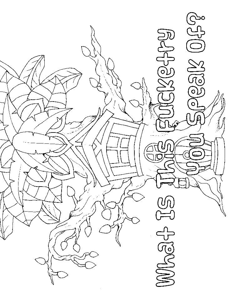 forest tree adult coloring page swear 14 free printable coloring pages visit swearstressawaycom to download and print 14 swear word coloring pages - Swear Word Coloring Pages Printable Free