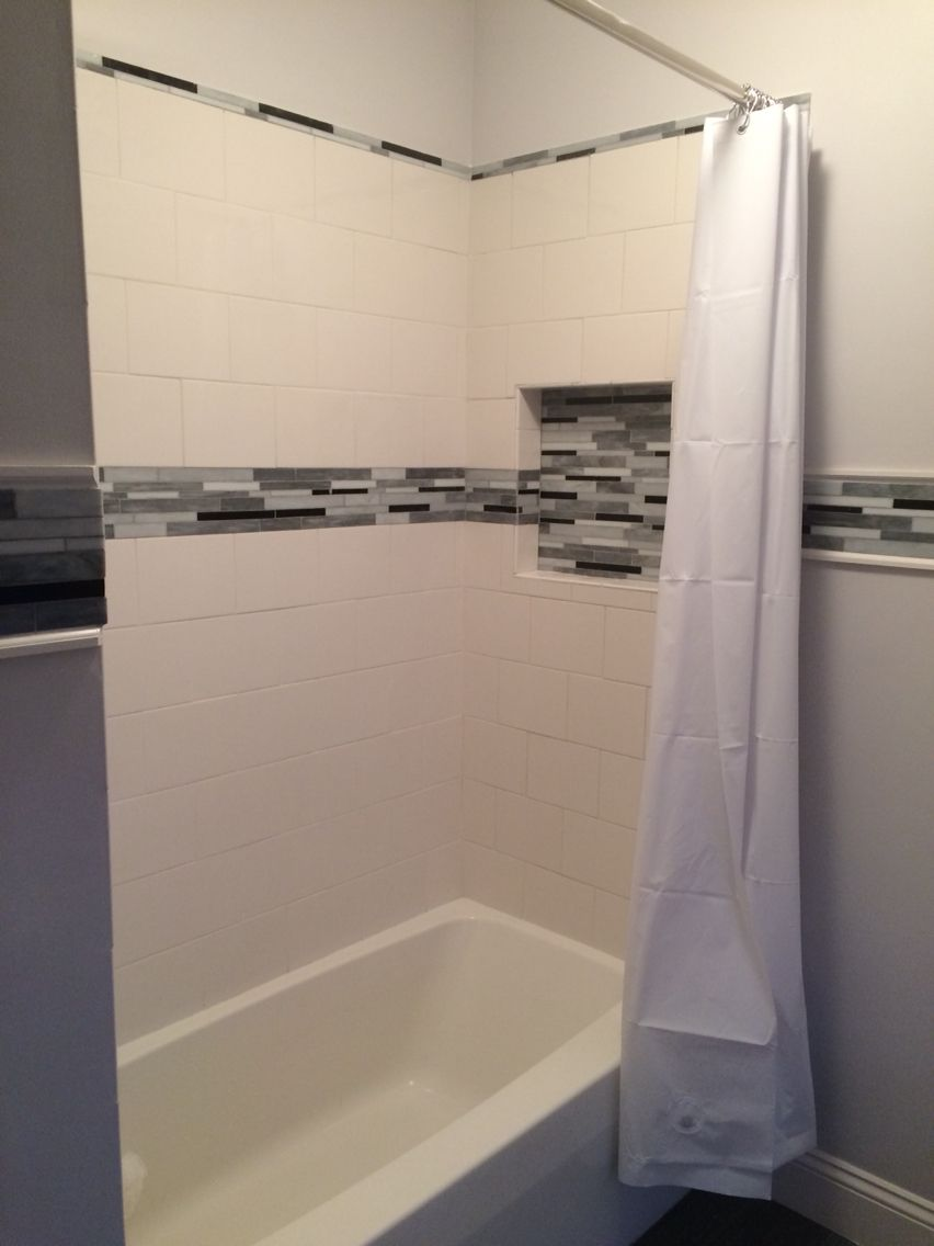 Baroque arabescato mosaic tile with x white ceramic tile bathroom