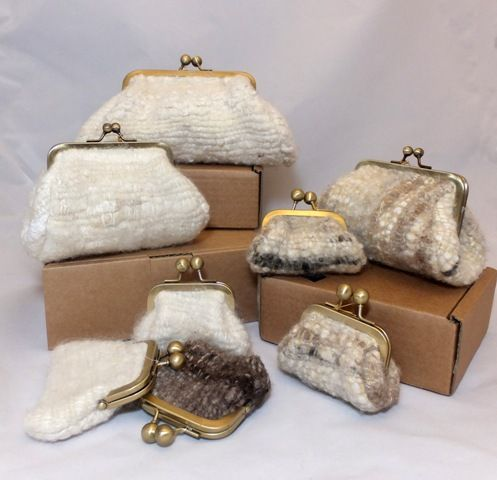 Purses woven & felted