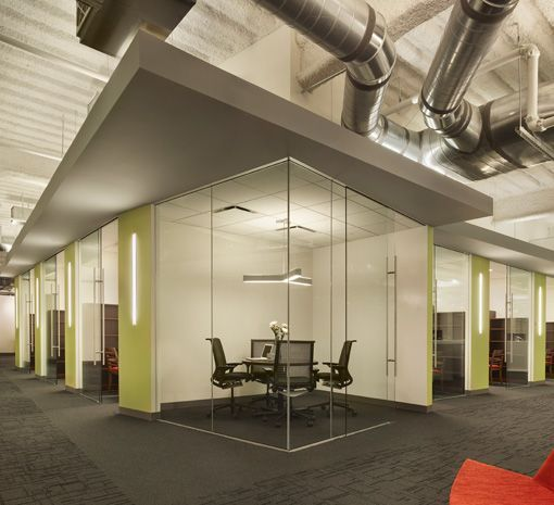 Interior Design Technology Remodelling: Verizon Technology Innovation Center; Shaw Carpet: City