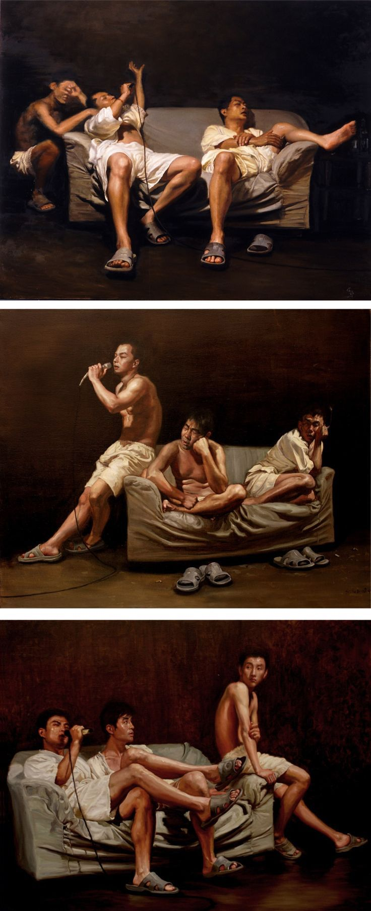 Realistic gay art