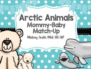Arctic Animal Mommy Match Up Arctic Animals Arctic Animals Activities Polar Bears Activities