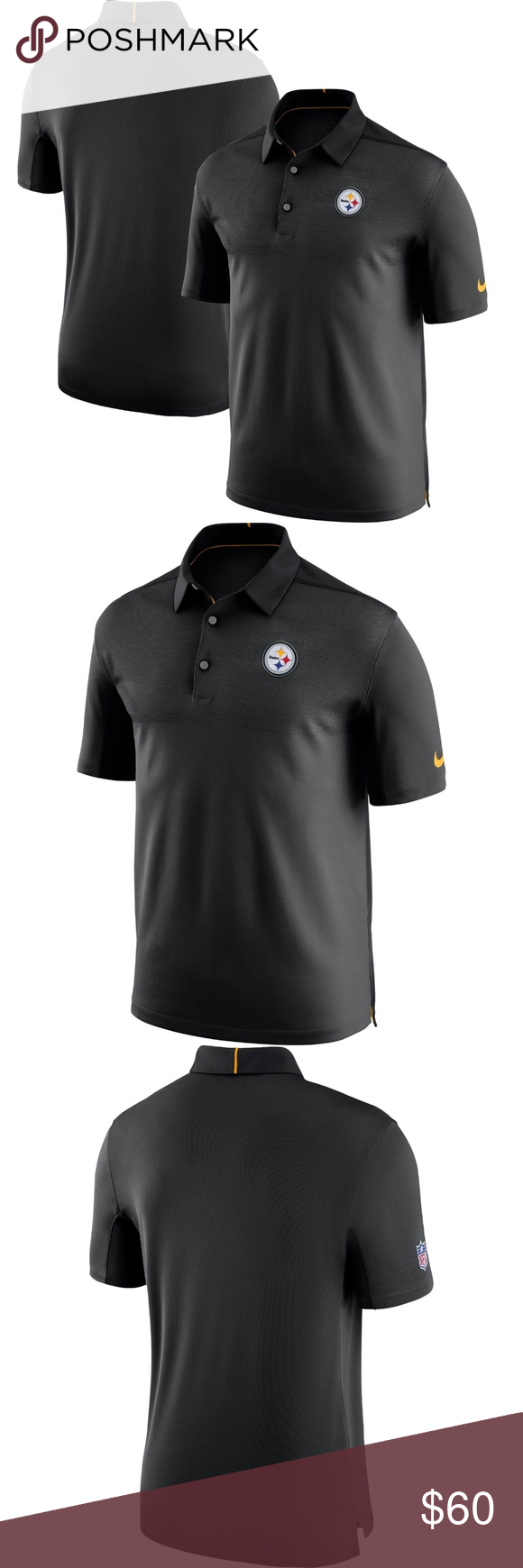 e3528d053 Nike Pittsburgh Steelers Performance Polo Shirt XL Material  95%  Polyester 5% Spandex