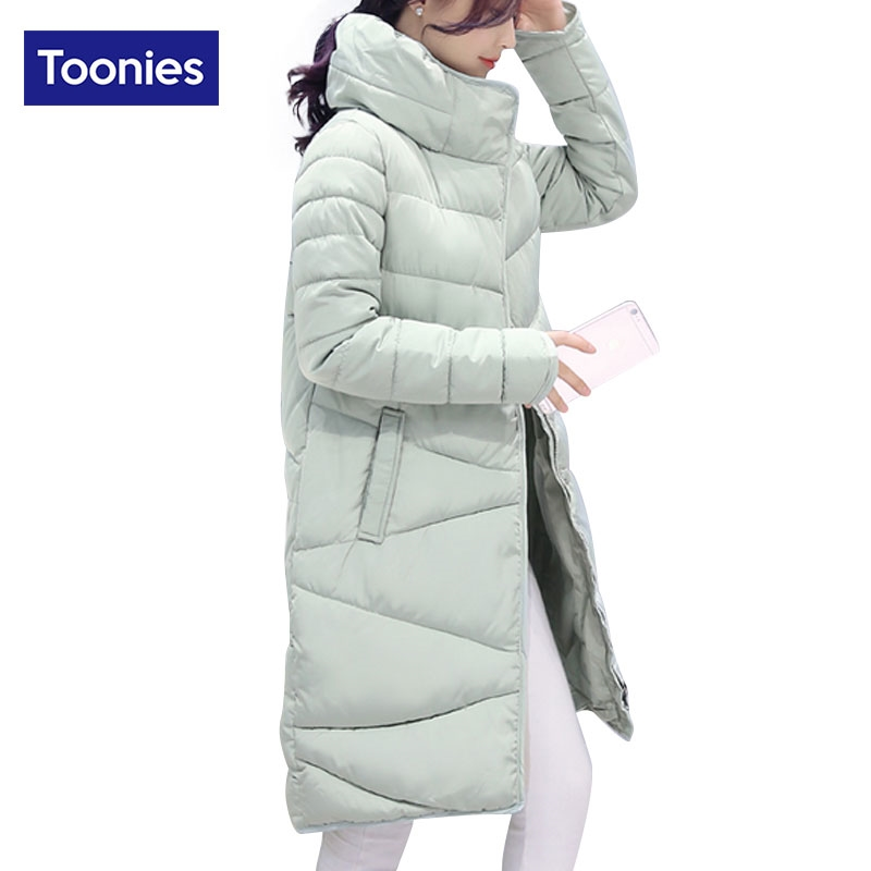 8296a4d915e 34.36  Buy here - Toonies Elegant Style Parkas Woman Coats 2017 Winter Slim  Straight Thick