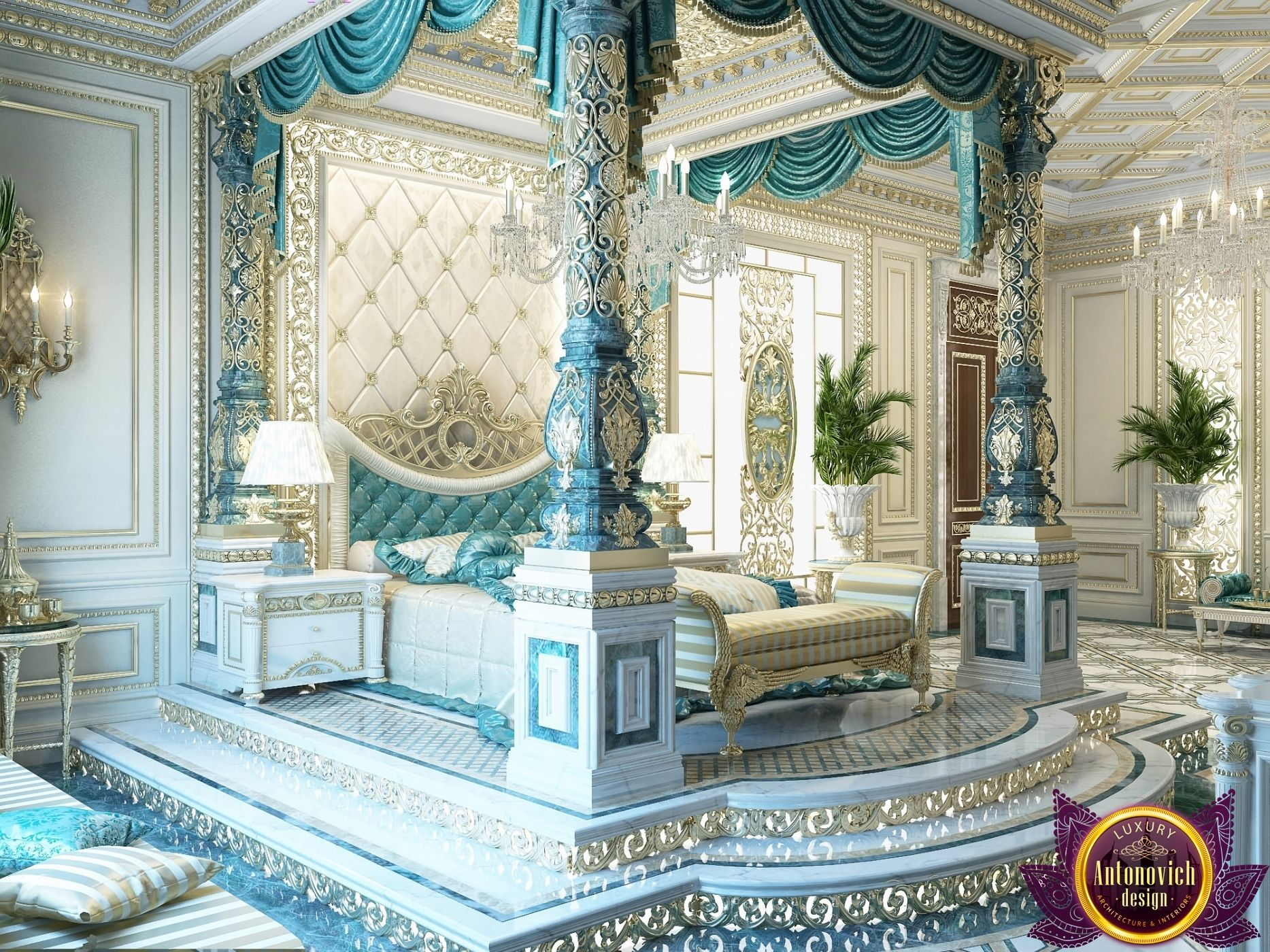 Bedroom Design In Dubai Luxury Royal Master Bedroom Design Photo