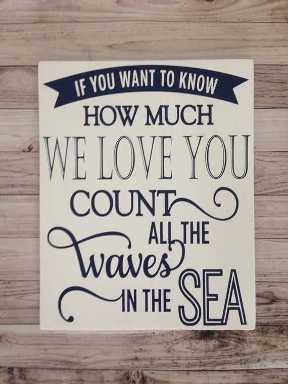 Photo of Count The Waves In The Sea Wood Sign Nursery Wall Decor Nautical Decor Navy and White Nautical Decor