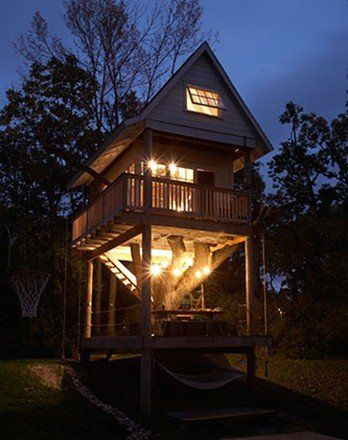 Want To Build Your Tiny House On A Foundation 13 Permanent Homes Tree House Designs Tree House Apartment Therapy House Tours