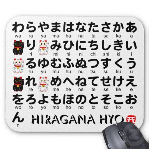 Japanese HiraganaAlphabet Table Mousepads  Info