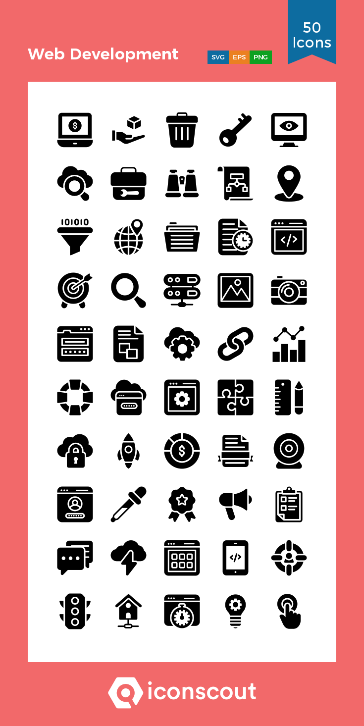 Download Web Development Icon Pack Available In Svg Png Eps Ai Icon Fonts In 2020 Icon Pack Icon Glyph Icon