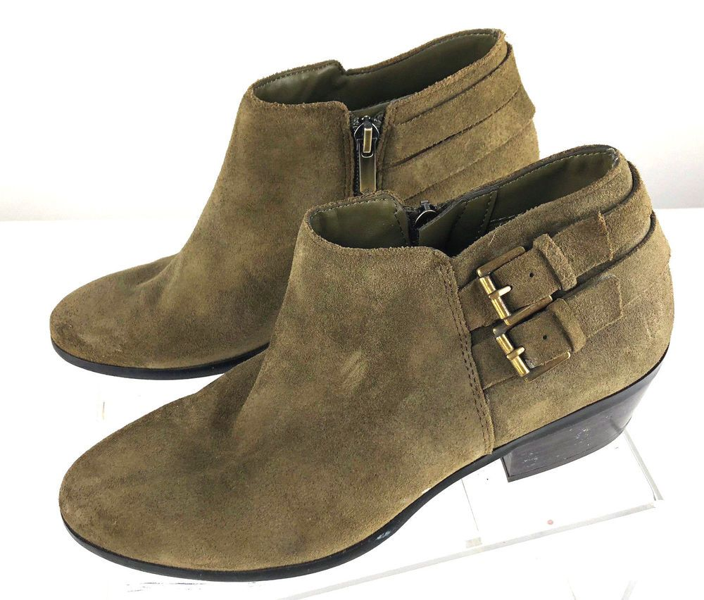 0ebe2cc0f5c4 Sam Edelman Petal Ankle Boots Suede Side Zip W Double Buckle Detail 7.5   SamEdelman  Booties  CasualOutdoor