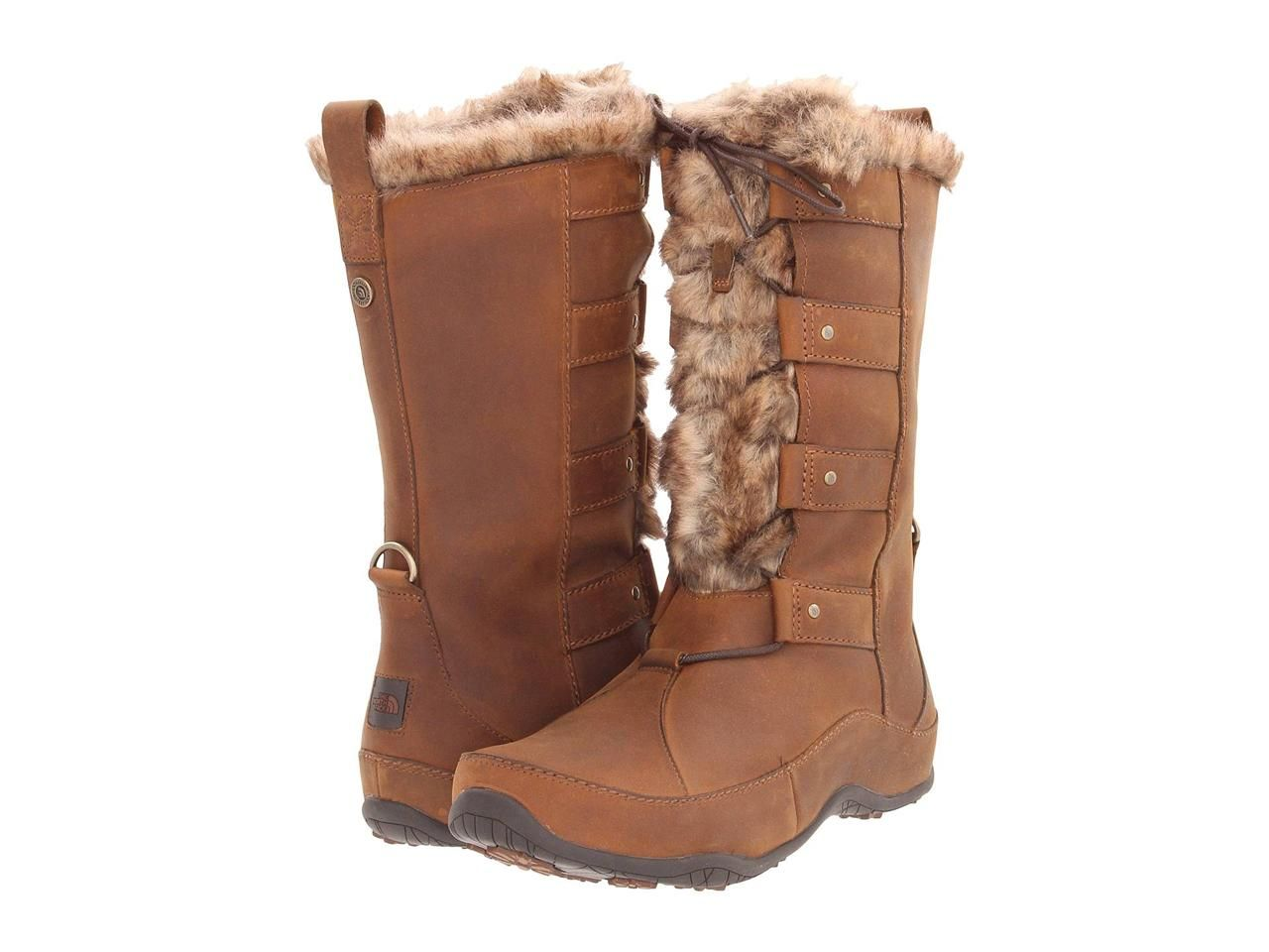 004a94d5c The-North-Face-185-Abby-IV-4-Luxe-Women-Boot-Shoe-Brown-Leather-Fur ...