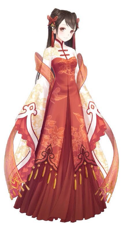 Chinese Traditional Dress Anime Dress Anime Outfits Anime Drawings