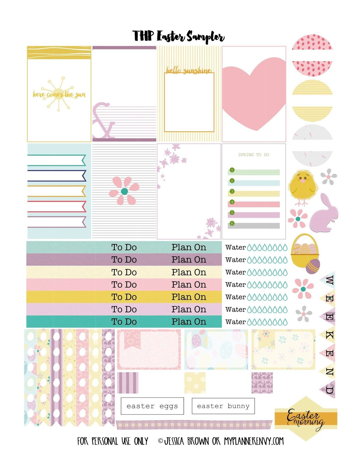 My Planner Envy: Easter Sampler - Free Planner Printable