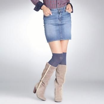 $26 Falda vaquera 5 bolsillos talle bajo - cierre cremallera - desgastes en bolsillos - pliegues marcados - ACTIVE WEAR
