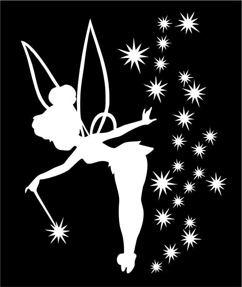 """5/"""" TINKERBELL LAY DOWN DISNEY CAR BUMPER WINDOW STICKER DECAL CHOISE OF COLOURS"""