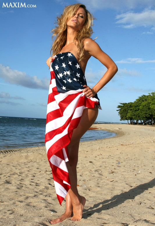 Tami Donaldson Wrapped In American Flag More Sexy Women -5453