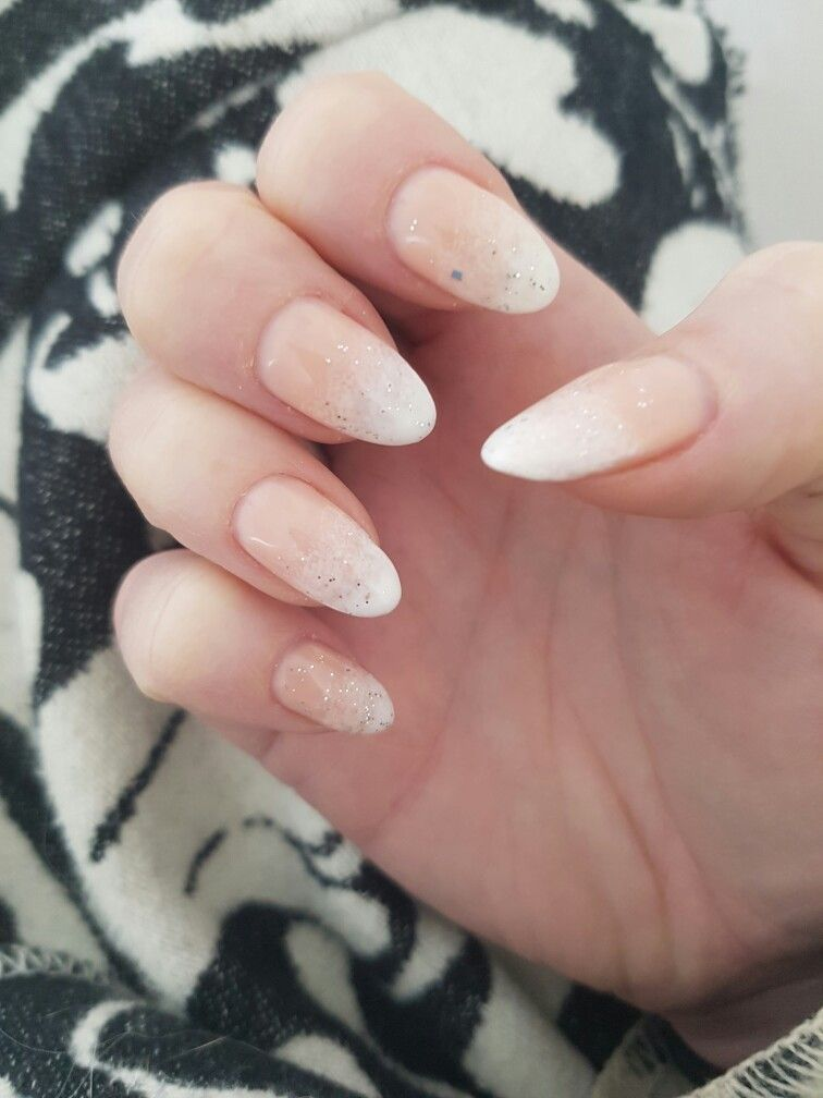 French fade gel nail Polish on natural nails. Can be done for ...