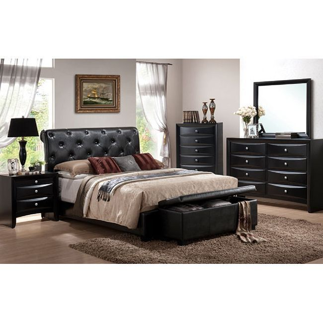 Affordable Contemporary Bedroom Furniture: Vegas 5-piece California King-size Bedroom Set