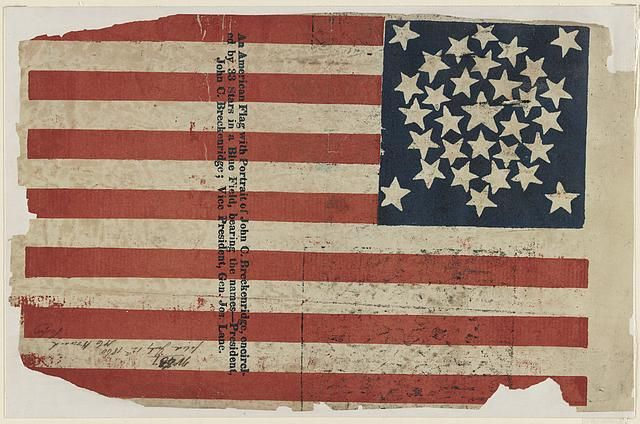 Proof For An American Flag Campaign Banner For John C Breckinridge And Joseph Lane Flag American Flag Campaign Furniture