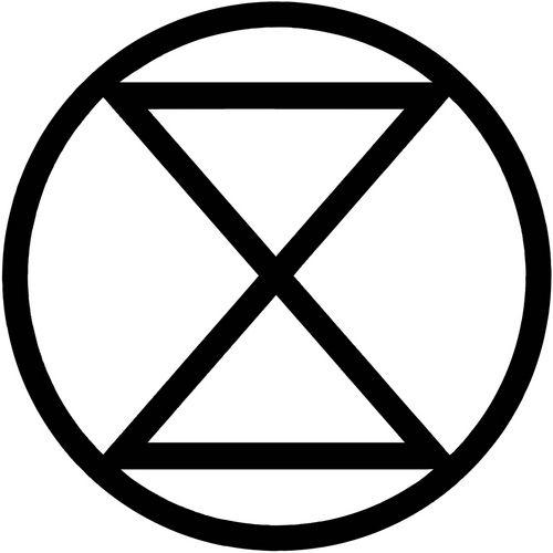 Time Has Run Out Extinction Symbol Symbol Logo Pinterest